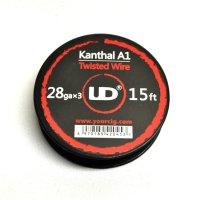 UD - Kanthal A1・Twisted(カンタルワイヤー・28G×3本のツイスト)約5m