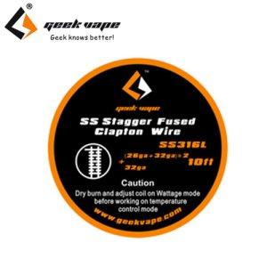 画像1: Geek Vape - SS Stagger Fused Clapton Wire(ステンレススチール・スタッガーフューズド・クラプトン)約3m
