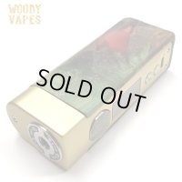 Woody Vapes  - Stabilized Wood SIII MOD(ゴールド × グリーン)【温度管理機能・アップデート機能付き・電子タバコ/VAPE】