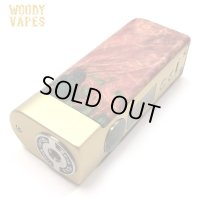 Woody Vapes  - Stabilized Wood SIII MOD(ゴールド × ブラウン)【温度管理機能・アップデート機能付き・電子タバコ/VAPE】