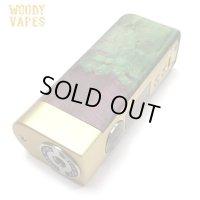Woody Vapes  - Stabilized Wood SIII MOD(ゴールド × ブラウン × グリーン)【温度管理機能・アップデート機能付き・電子タバコ/VAPE】