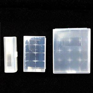 画像1: 21700 / 20700電池用・プラスチックケース