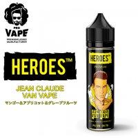 PRO VAPE HEROES  - JEAN CLAUDE VAN VAPE (マンゴー&アプリコット&グレープフルーツ)60ml