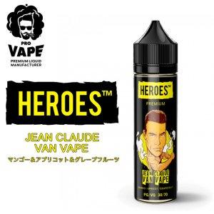 画像1: PRO VAPE HEROES  - JEAN CLAUDE VAN VAPE (マンゴー&アプリコット&グレープフルーツ)60ml